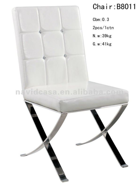 B8011 White Pu Stainless Steel Dining Chair - Buy White Pu Dining ChairStainless Steel ChairsDining Chair Product on Alibaba.com  sc 1 th 261 & B8011 White Pu Stainless Steel Dining Chair - Buy White Pu Dining ...