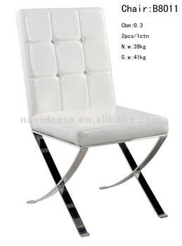 check out b7f0a f7595 B8011 White Pu Stainless Steel Dining Chair - Buy White Pu Dining  Chair,Stainless Steel Chairs,Dining Chair Product on Alibaba.com