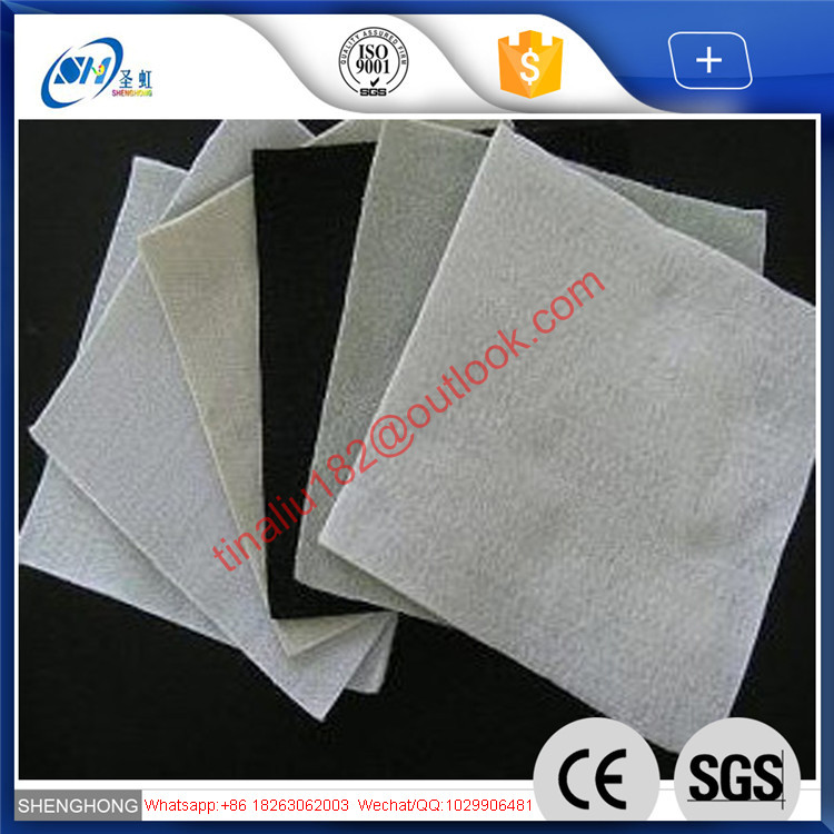 PET polyester continuous filament spunbond needle punched nonwoven geotextile