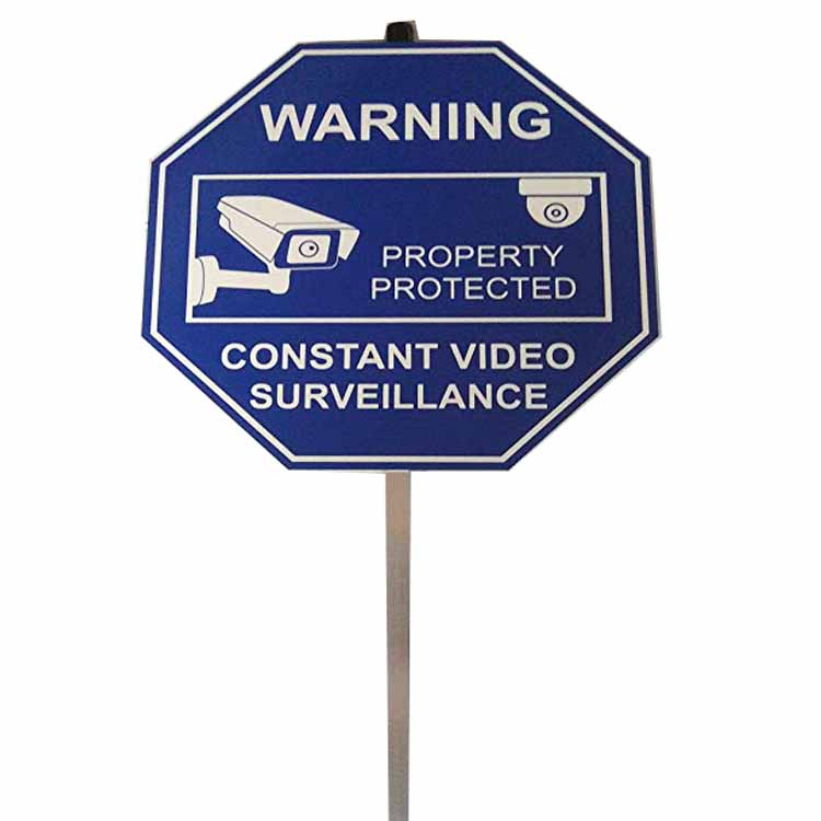 Custom cheap metal blue aluminum security yard traffic signs reflective