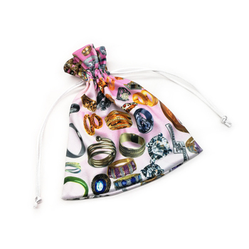 Custom Logo Printed Soft Microfiber Jewelry Packaging Bag Pouch