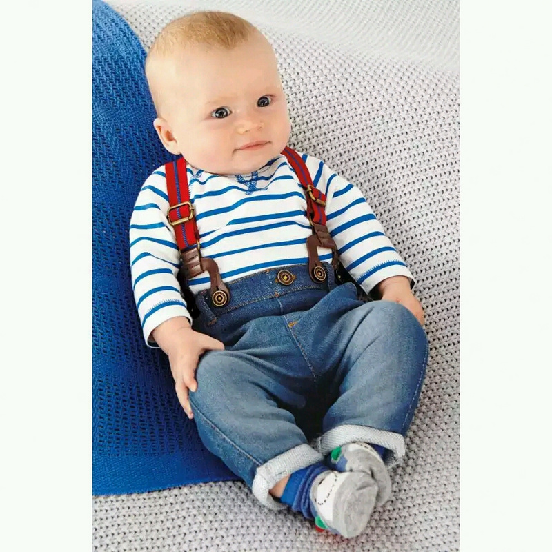 baby clothing set cool boys 3pcs suit t shirt pant straps Autumn and winter infant garment