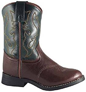 Smoky Mountain Childs Man Made Leather Two Tone Western Cowboy Boot with Round Toe