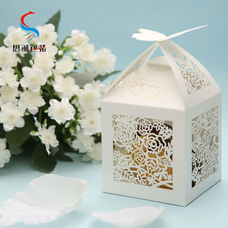 New design cheap paper packaging wedding cake boxes