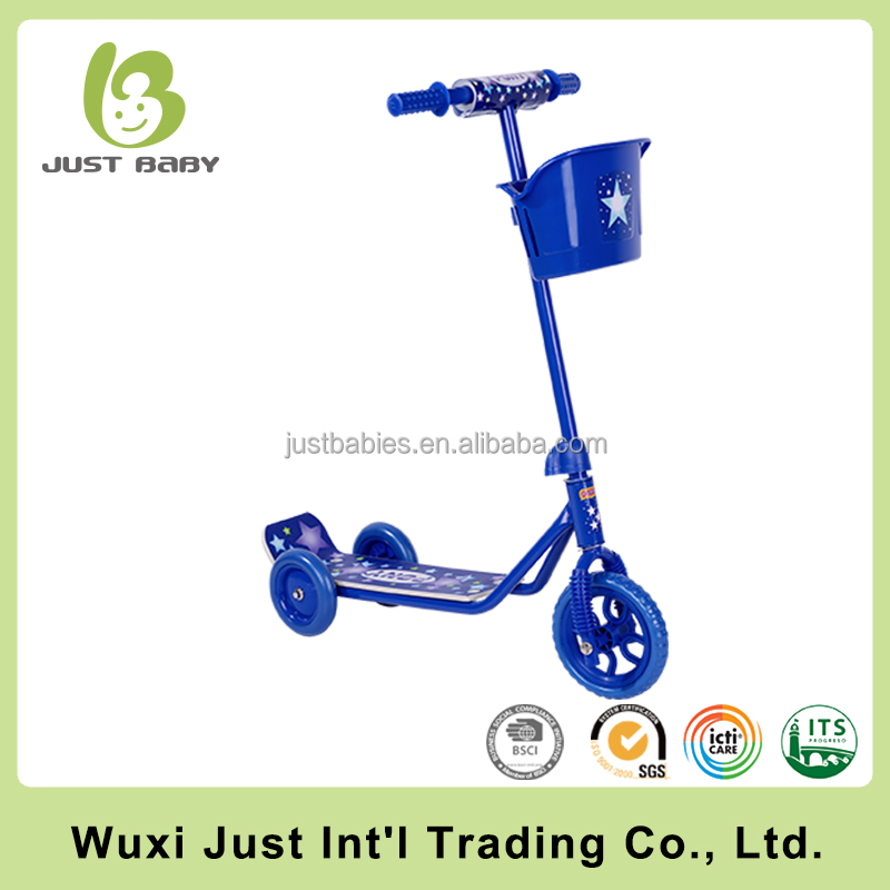 Child kick scooter for 3-8 yeays old, steel frame foot pedal kids kick scooter