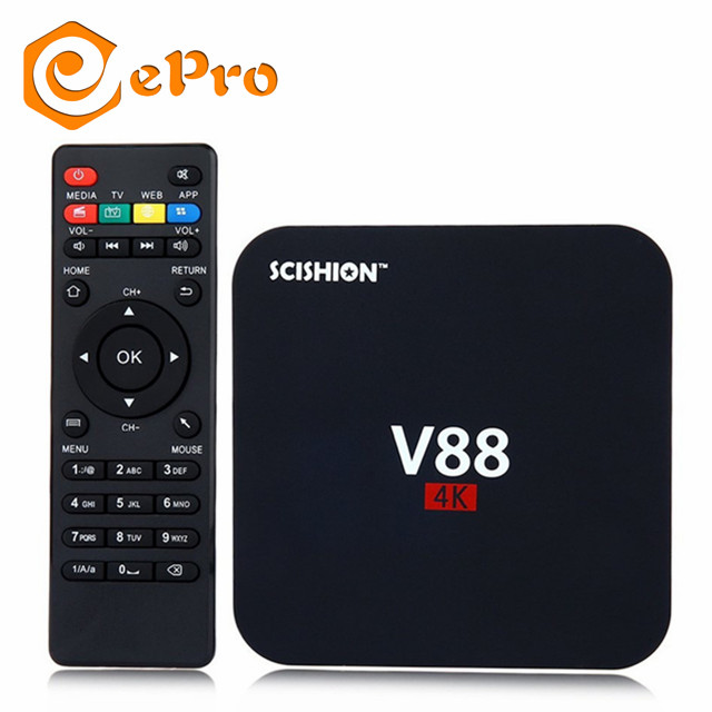 Epro V88 Rk3229 Quad Core Tv Box 1080p Os 1g/8g Wf 4 Usb Host Support Set Box Android 6.0 V88