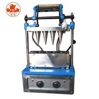 Commercial ice cream cone maker machine for filling ice cream