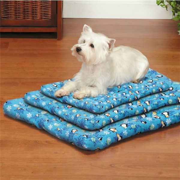 SLUMBER PET SMALL CANVAS BLUE DOG BED toy yorkie crate mat pet supplies clothes
