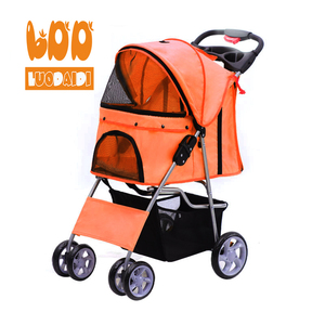 Four wheels outdoor travel carrier foldable portable pet dog stroller for pet dog