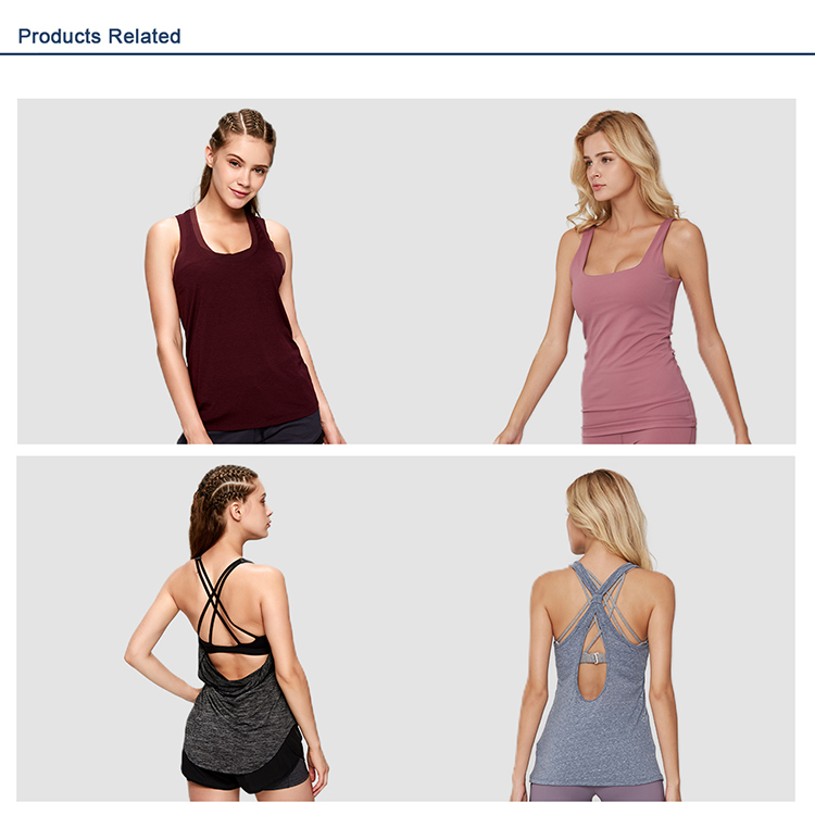 Hollow back activewear yoga clothing gym loose women tank top
