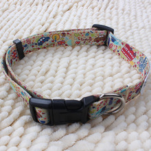 China wholesale adjustable funny logo branded dog collar