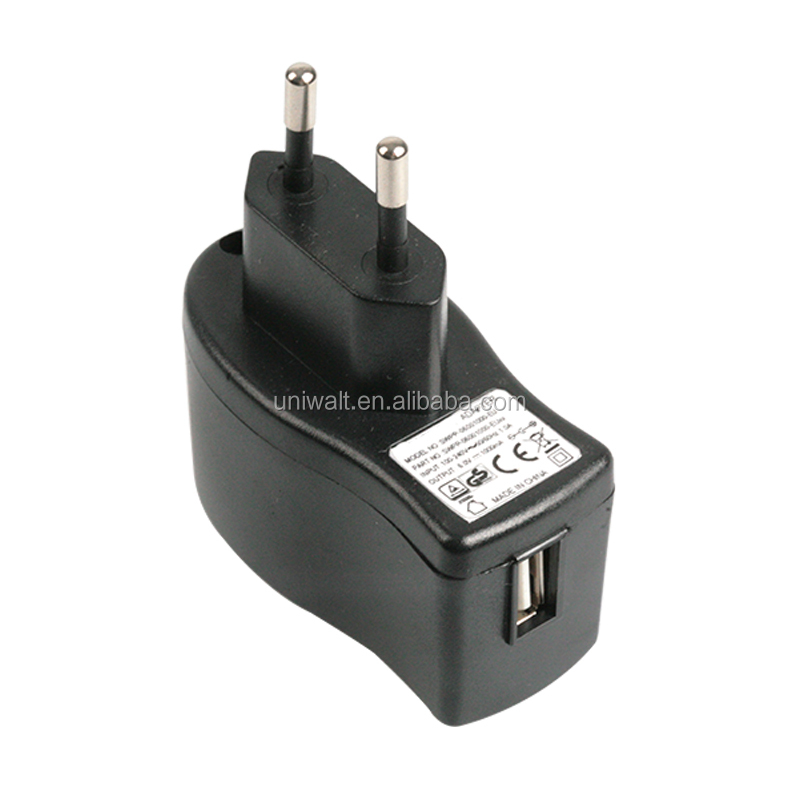 Portabel uni eropa plug usb charger untuk iphone android ponsel ponsel, 5 w dinding ac dc 5 v 1a usb power adapter dengan CE terdaftar