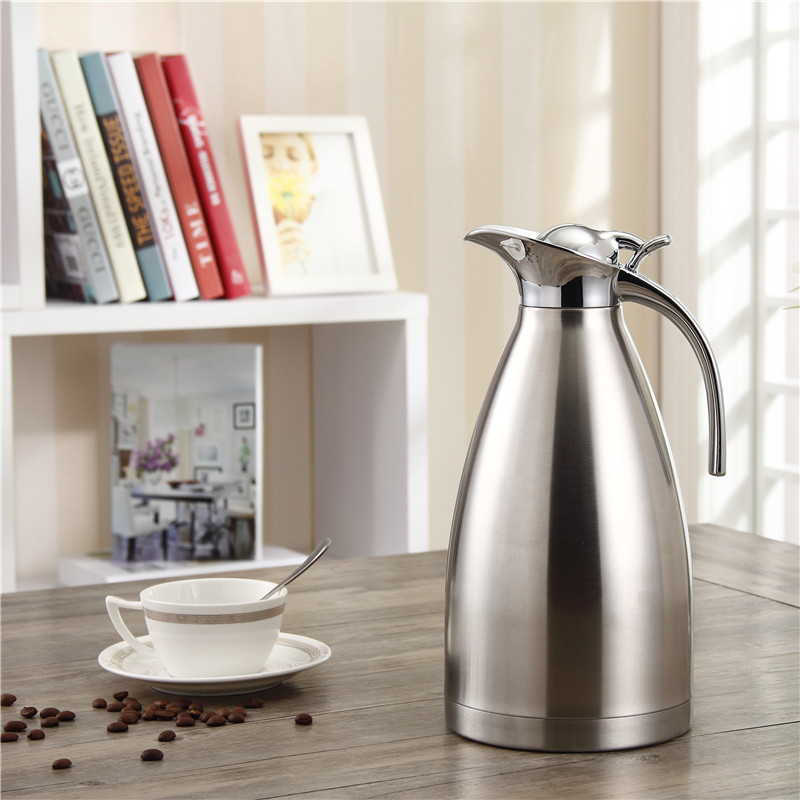 75 Oz 2.2L Double-Wall Vacuum Insulated Stainless Steel Coffee Pot Water Jug Flask Thermal Carafe