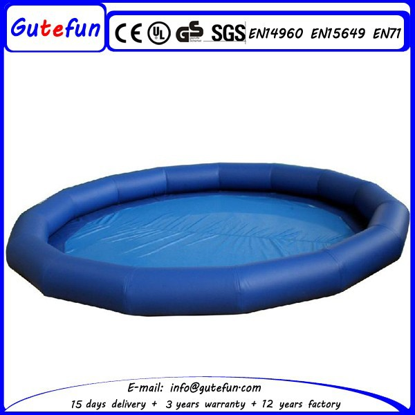 2015 new Above ground fun games inflatable swimming pool equipment for sale