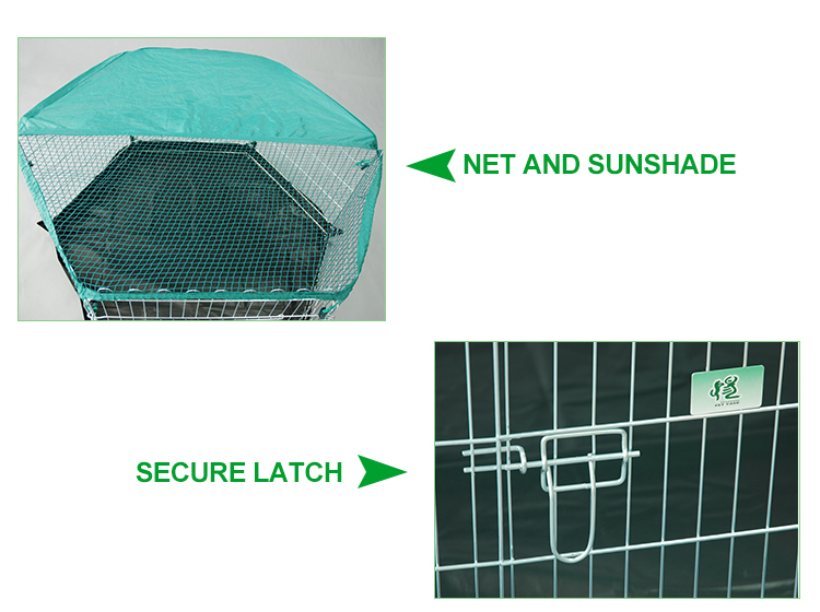 outdoor six panels portable galvanized metal wire rabbit fences