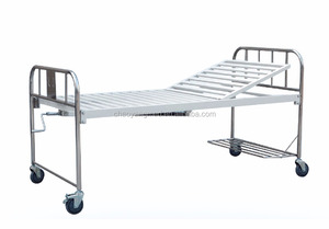 CY-A115 competitive price one crank stainless steel hospital bed