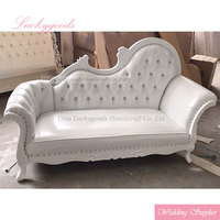 LYZ018 white 2 seat bride and groom event wedding sofa chair