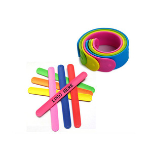 Christmas Gifts Slap Bracelets Hot Sale Bracelet Children Gifts Silicone Slap Wrist Band