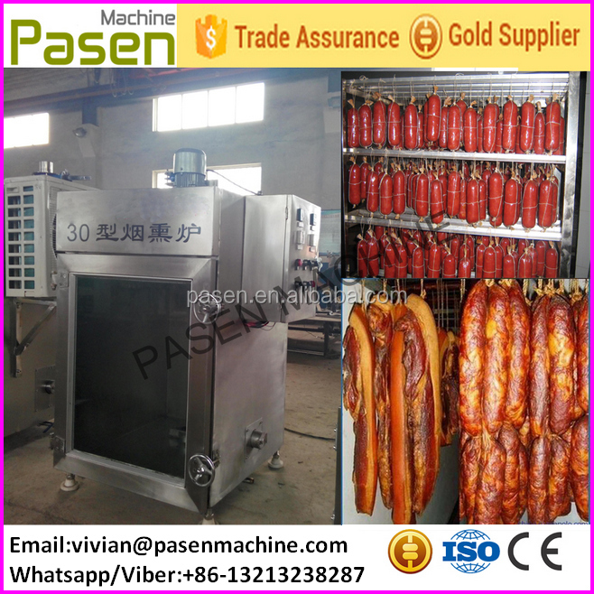 Automatic Sausage Electric Bacon Smoker House Smoking Meat Making Machine