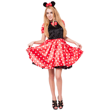 School meisje cartoon Cosplay volwassen vrouw minnie lady mikey mouse <span class=keywords><strong>Kostuum</strong></span> <span class=keywords><strong>voor</strong></span> vrouwen <span class=keywords><strong>carnaval</strong></span> party fancy dress