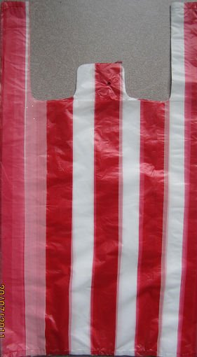 Hdpe Candy Stripe T Shirt Bag Supplieranufacturers At Alibaba