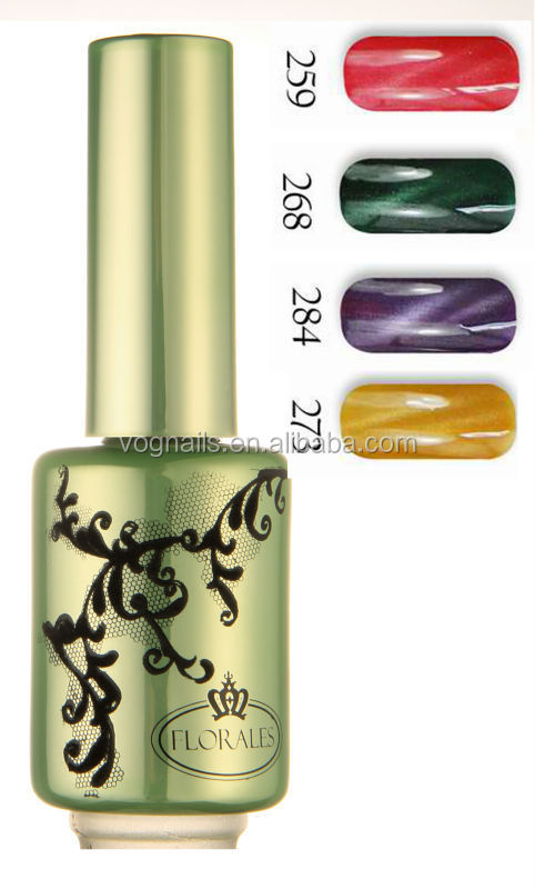 Fei Fan 2017Florales Cat Eye Metallic Organic Gel Nail Polish Distributor Free Sample