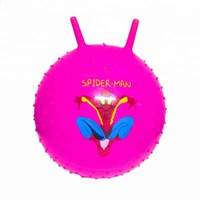 Kids playing toys cartoon logo printed pvc inflatable bouncing ball