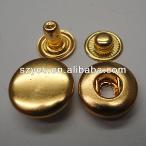 decorative gold color metal button snap for coats (484#)