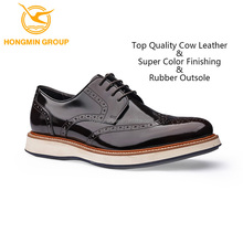 China guangzhou shoe factory bulk wholesale high quality luxury flat sole business causal genuine leather shoe for men