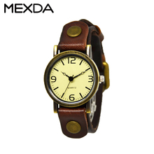 New vintage quartz women punk retro leather bracelet watch men dress watchs wholesale cheap ladies vintage leather wrist watch