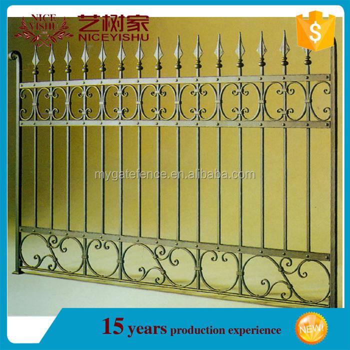 yishujia usine en gros pas cher fer piquet cl ture m tal des cl tures de jardin galvanis. Black Bedroom Furniture Sets. Home Design Ideas