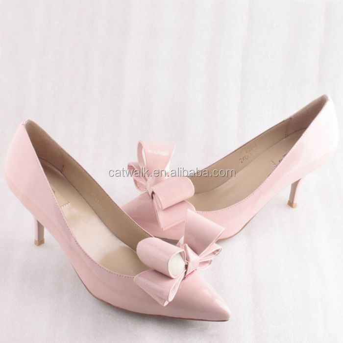 2015 Stylish Low Heel Women Shoes Custom Made Genuine Leather