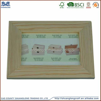 Fsccarb Certificate Unfinished Wooden Photo Picture Frame