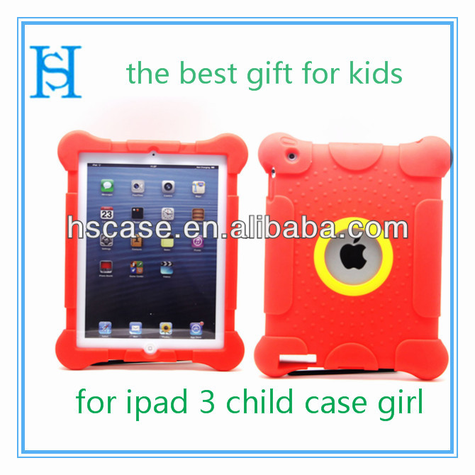 2014 Customer Design Shock Proof Kids Tablet Case For ipad 2/3 /4 Silicon Protective Tablet Case