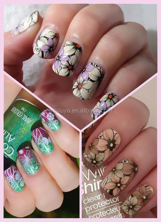 100% Brand-new Xxl Big Flower Design Template Nail Art Stamping ...