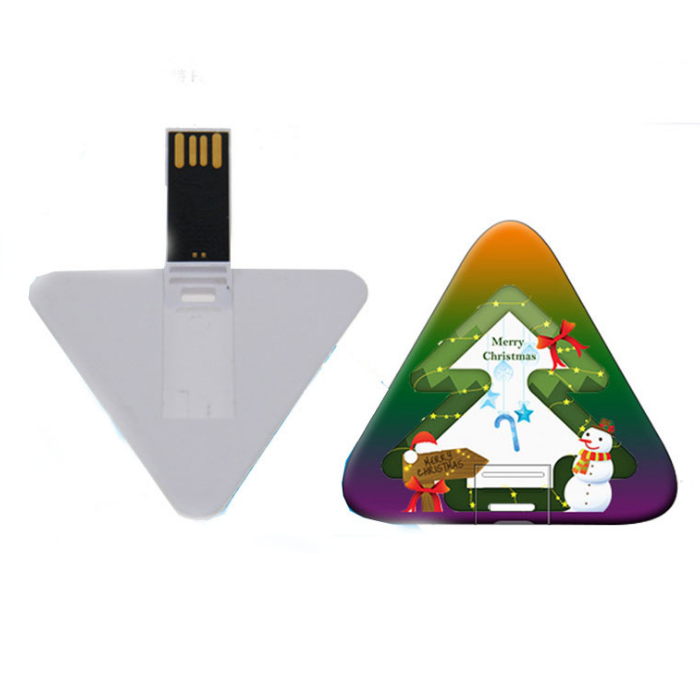 High Quality Credit Card Pendrive 4gb Custom Logo Printing Triangle Card USB Flash Memory Sticks