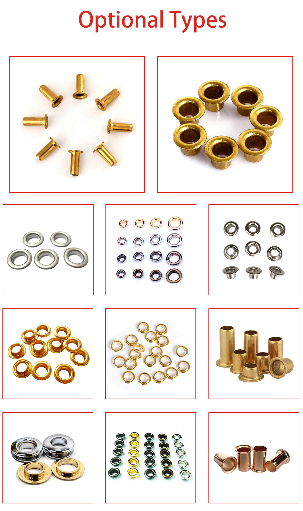 Hot Sale High Quality Competitive Price Nickel Free Metallic Eyelet Wholesale From China