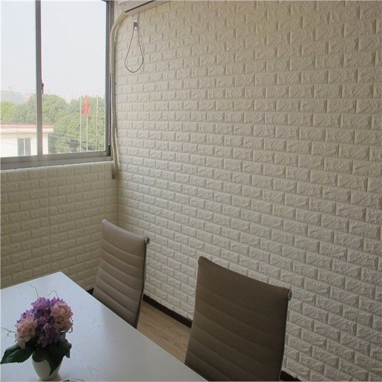 Hot Selling Diy Korean Style 3d Brick Pe Foam Self Adhesive Wall