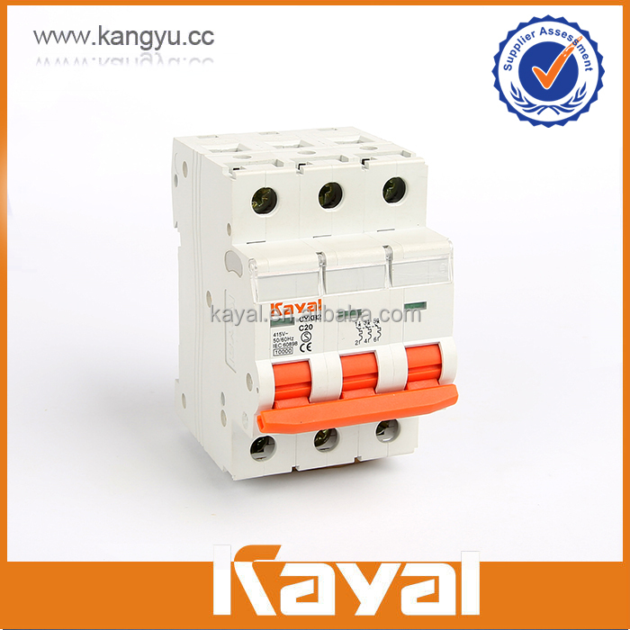 Factory price C65 1P,2P,3P,4P 6ka minature circuit breaker nob52(mcb)