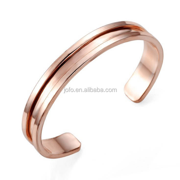2017 New Simple Rose Gold Fashion Punk Luxury Love Men Bracelets Bangles