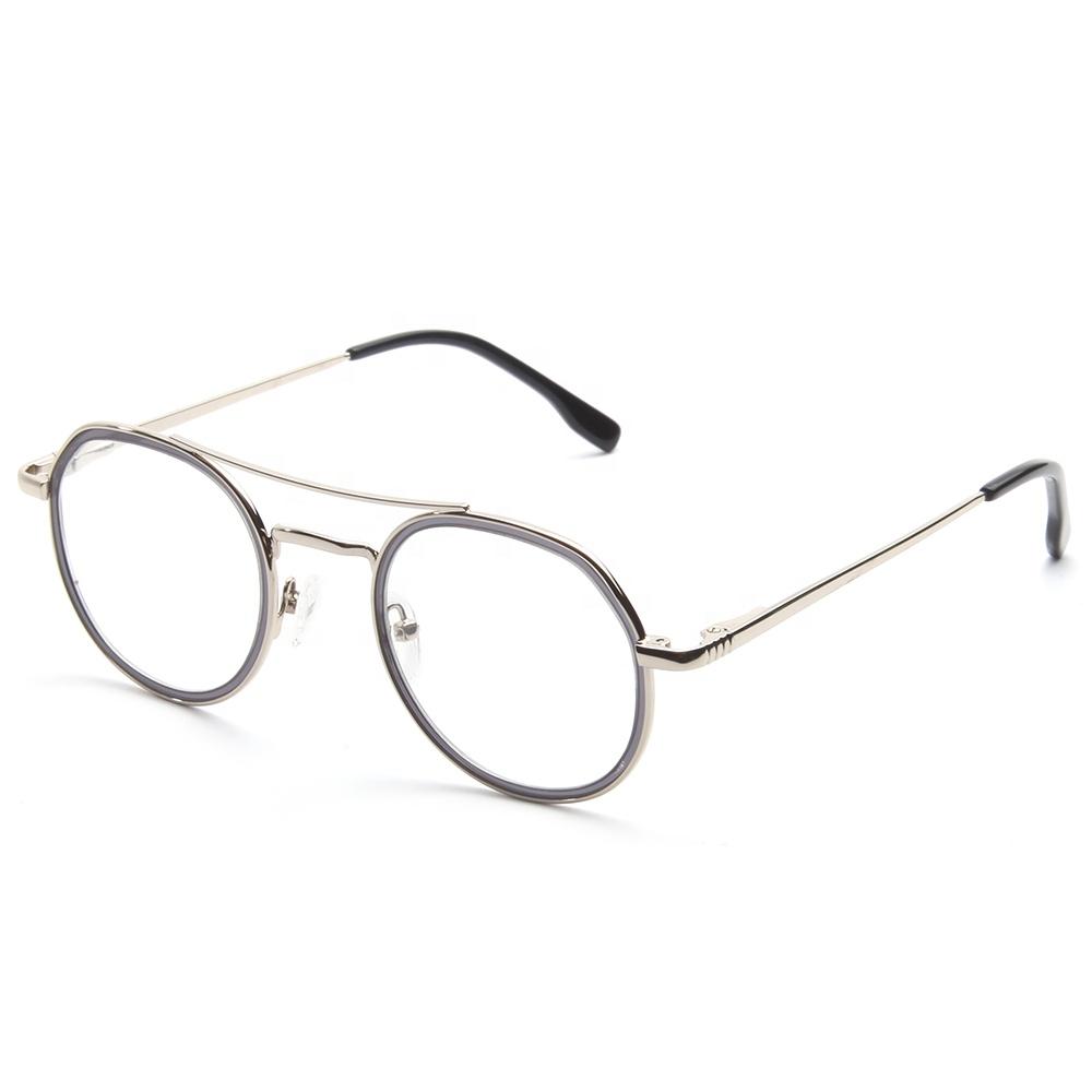 e313e1c990e7a Mais recente Moda Óculos Quadro Atacado Óculos De Metal Redondas Oculos  Feminino de Grau
