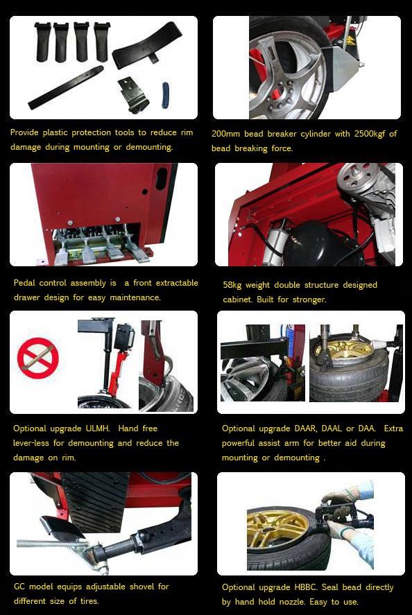 wheel changer machine