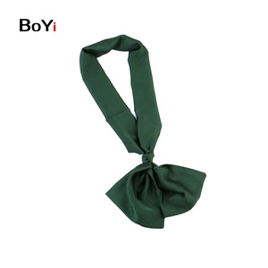 Good Quality Silk Satin Plain Knot Digital Printed Scarf For Women