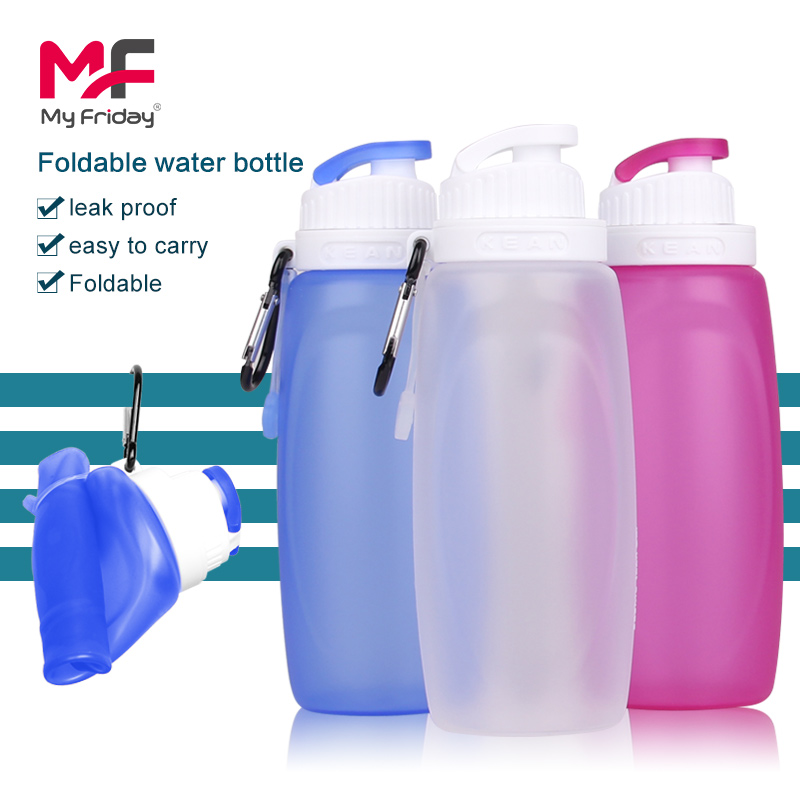 Lightweight colorful foldable food grade silicone plastic bottle 3 liter