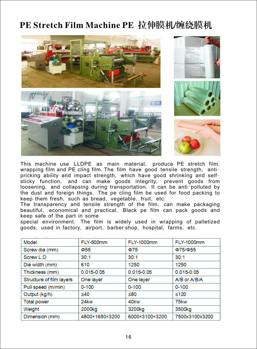 After-sales Service Provided automatic cast stretch film manufacturing machine