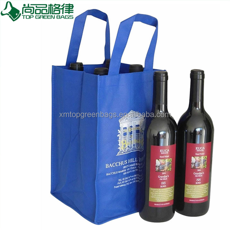 Promotional Cheap Non Woven four bottle 4 Bottles wine bag Holder