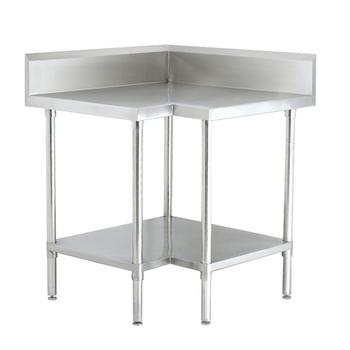 Meja Kerja Dapur Komersial Digunakan Stainless Steel Sudut Meja Buy Sudut Meja Dengan Di Bawah Splashback Dapur Stainless Steel Sudut Meja