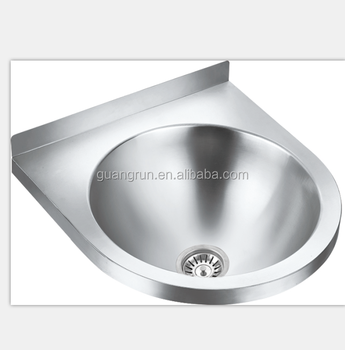 Wall Mounted Stainless Steel Round Kitchen Hand Wash Basin Sink GR 526B