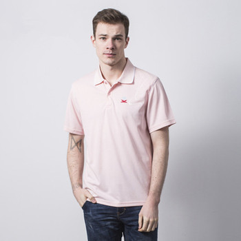 ad51c936fb78 guangzhou wholesale clothes US 240gsm 100%cotton light pink polo t-shirt men  with