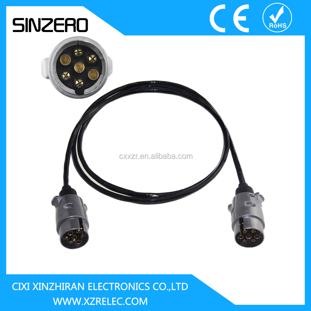 7 Pin Trailer Plug 7pin Electric Coil With Buy Plug7pin Plugtrailer Core Wiring Extension Cord